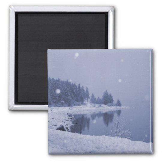 Seaside Snowfall Magnet
