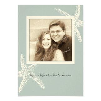 Seaside Starfish Photo Marriage Announcement