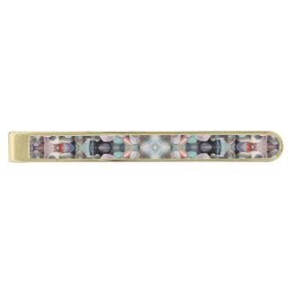 Seaside Stone Treasures Fractal Gold Finish Tie Bar