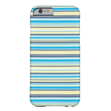 Beach Themed Seaside stripes barely there iPhone 6 case
