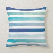 Seaside Stripes Throw Pillow