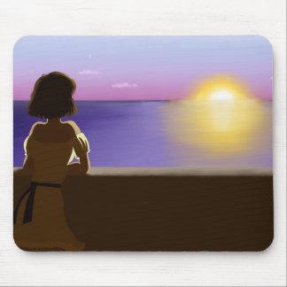 Seaside sunset mouse pad