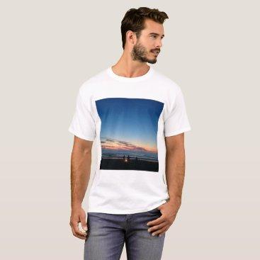 Beach Themed Seaside sunset. Night fishing T-Shirt