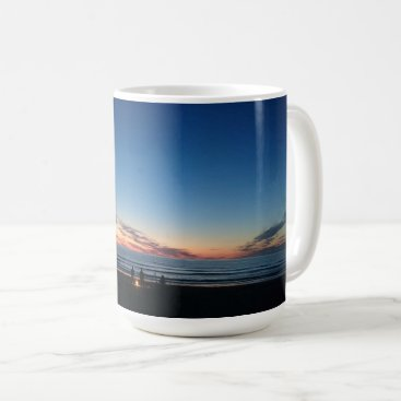 Beach Themed Seaside sunset. Night fishing with the boys Coffee Mug