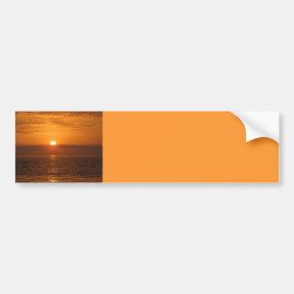 Seaside Sunset Reflection Car Bumper Sticker
