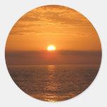Seaside Sunset Reflection Classic Round Sticker