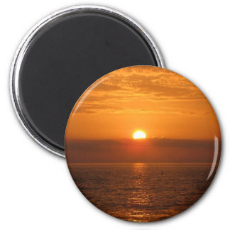 Seaside Sunset Reflection 2 Inch Round Magnet