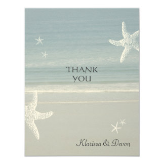 Seaside Thank You Card Invite