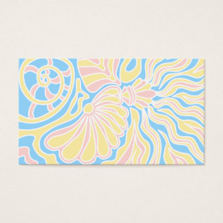Seaside Themed Design in Pastel Colors. Business Card