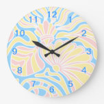 Seaside Themed Design in Pastel Colors. Wall Clocks