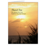 Seaside Tranquil Sunset Thank-You for Sympathy Greeting Card