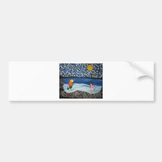 seaside treasure hunting bumper sticker