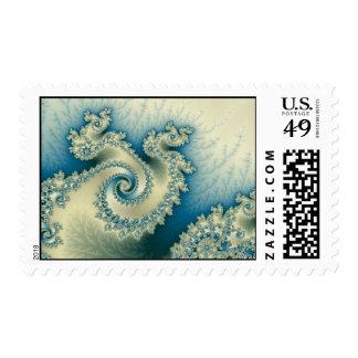 Seaside Triple Twirl Postage Stamp