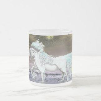 Seaside Unicorn Frosted 10oz Frosted Glass Mug