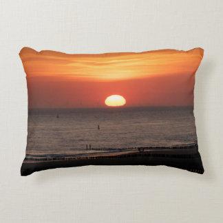 Seaside views - sunset accent pillow
