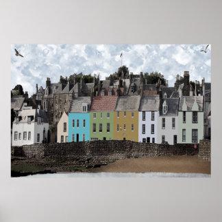 Seaside Village Scene - Anstruther Poster