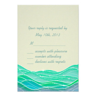 Seaside Wedding Magical Waves Invite