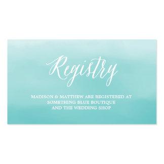 Seaside | Wedding Registry Card Business Card