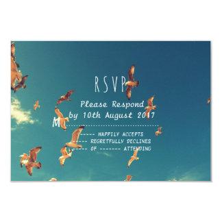 Seaside wedding request RSVP card