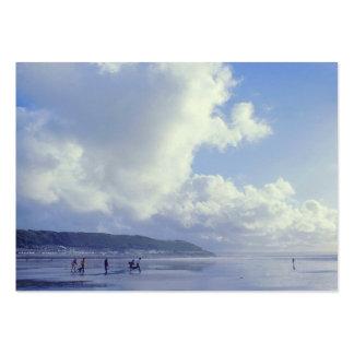 Seaside - Westward Ho, North Devon, UK (1970s) Large Business Card