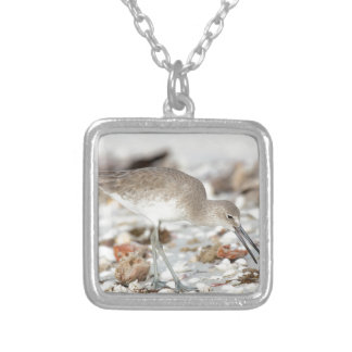 Seaside Willet Square Pendant Necklace