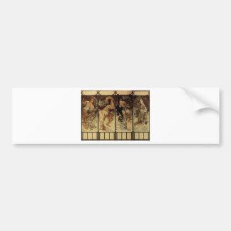 Season by Alphonse Mucha Bumper Sticker