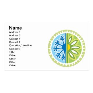 Season Changes Business Card Templates