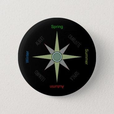 Season Compass Rose Button