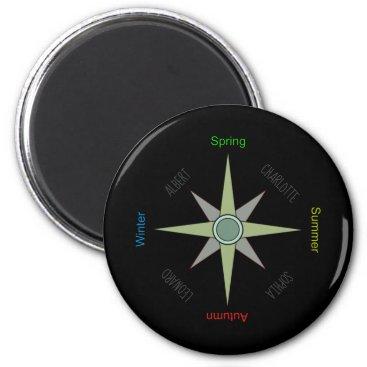 Season Compass Rose Magnet