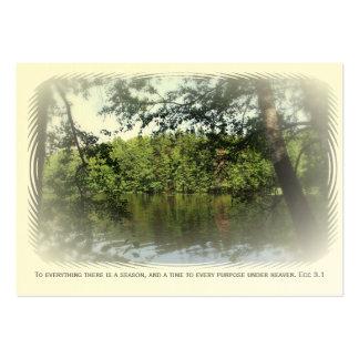 Season Ecclesiastes Lake Forest Bookmark ATC ACEO Business Card