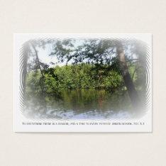 Season Ecclesiastes Lake Forest Bookmark Atc Aceo Business Card at Zazzle