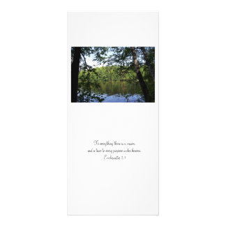 Season Ecclesiastes Lake Forest Bookmark Promotion Rack Card