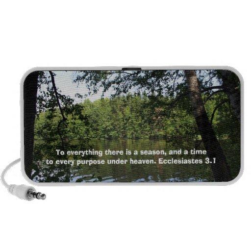 Season Ecclesiastes Lake Forest Doodle Portable Mini Speakers