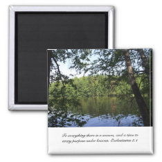 Season Ecclesiastes Lake Forest Magnet at Zazzle