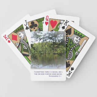 Season Ecclesiastes Lake Forest Playing Cards at Zazzle