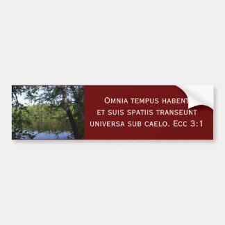 Season Ecclesiastes Latin Forest Lake Car Bumper Sticker