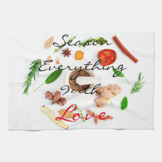 Season everything with love|| Spices Hand Towel