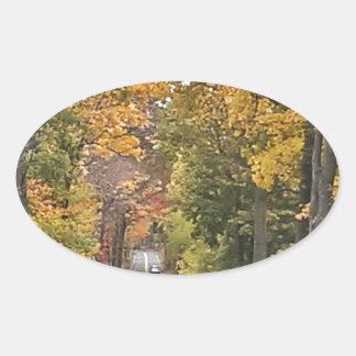 Season - Fall.jpg Oval Sticker