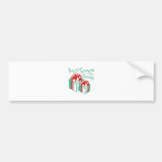 Season For Giving Bumper Sticker