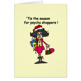 Season For Psycho Shoppers Stationery Note Card