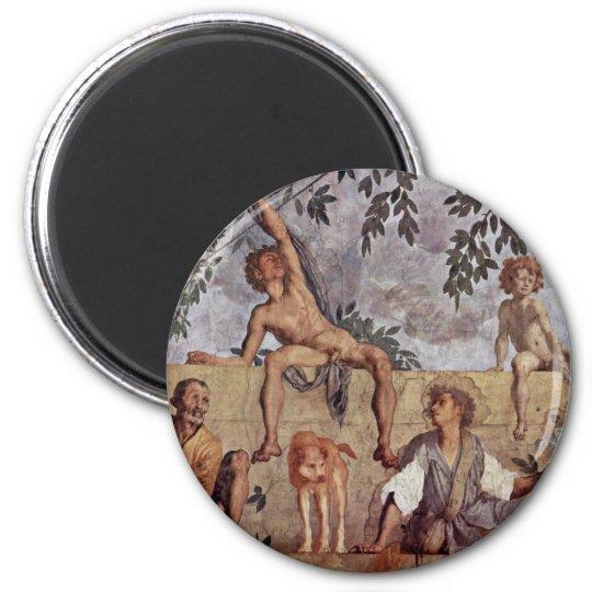 Season Frescoes In The Medici Villa At Poggio A Ca Magnet