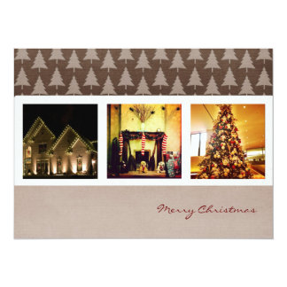"season greeting christmas instagram photo cards 5.5"" x 7.5"" invitation card"