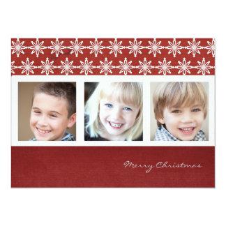 "season greeting christmas photo cards 5.5"" x 7.5"" invitation card"