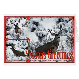 Season Greetings Buck Deer Greeting Card