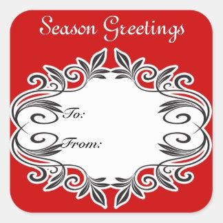 Season Greetings Gift Tag Stickers