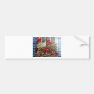 Season Greetings Red Cardinals Bumper Sticker