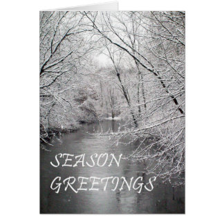 Season Greetings  Riverview Greeting Card