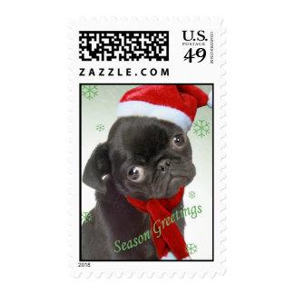 Season greetings Santa Paws Postage