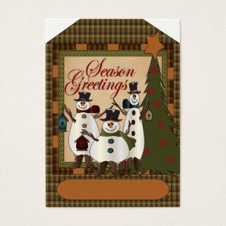 Season Greetings Snowman Gift Tag