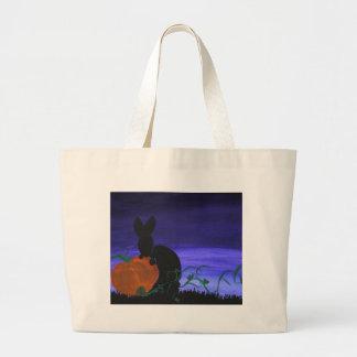 Season nocturne-fall large tote bag